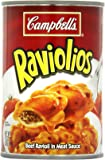 Campbell's Raviolios, Beef Ravioli in Meat Sauce, 15 Ounce (Pack of 12)
