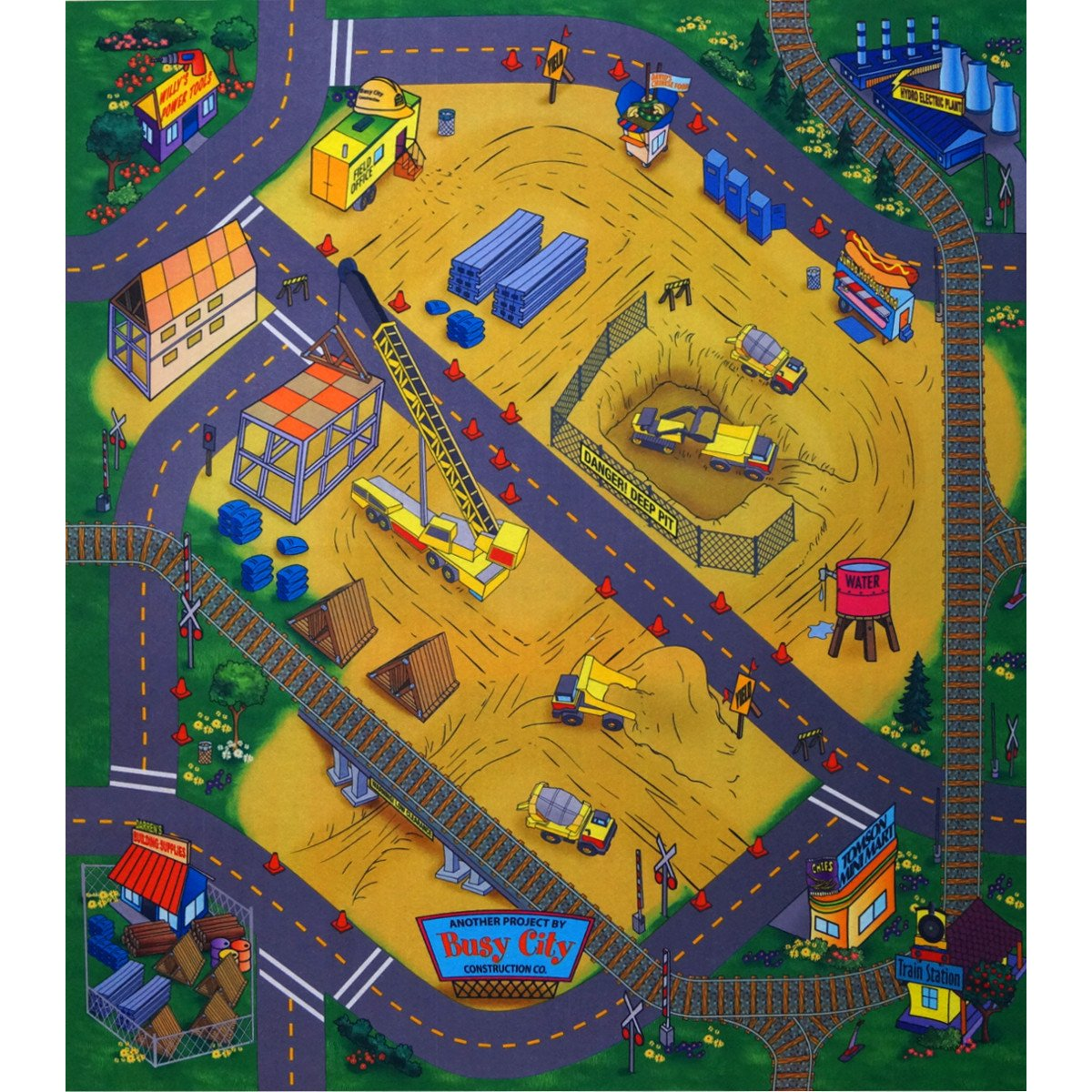 Unbekannt Spielteppich Straßenteppich 70 x 80 cm Desert