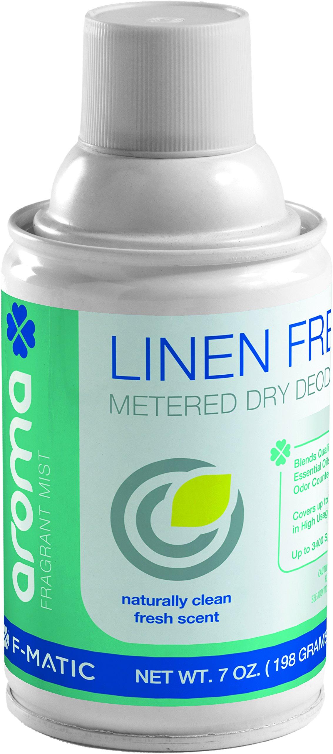 F-Matic AE200 Metered Spray Air Freshener Refill, Linen Fresh (Case of 12)