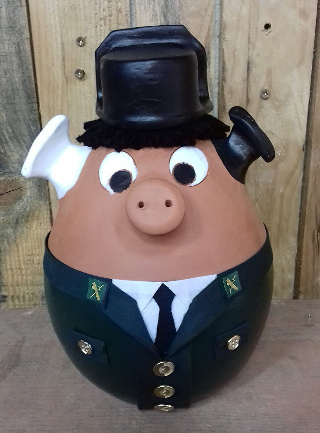 Cerdito hucha Guardia Civil