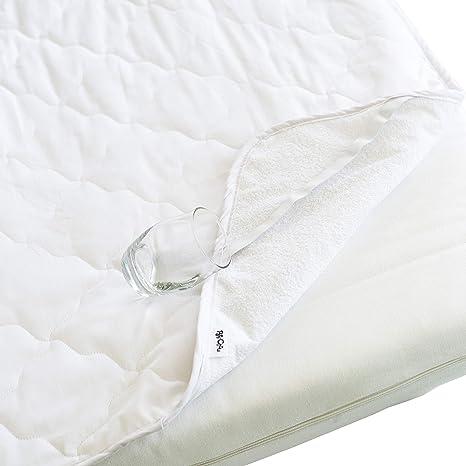 PatiChou Protector de colchón 100% algodón impermeable silencioso ...
