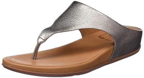 Fitflop Banda, Sandalias con Plataforma para Mujer, Marrón (Bronze), 41 EU FitFlop