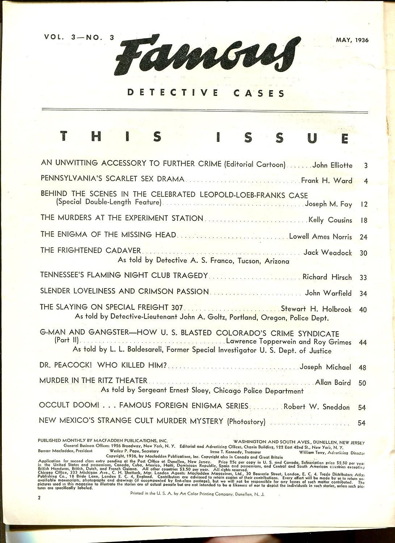 Famous Detective Cases 5/1936-Leopold & Loeb-decapitation