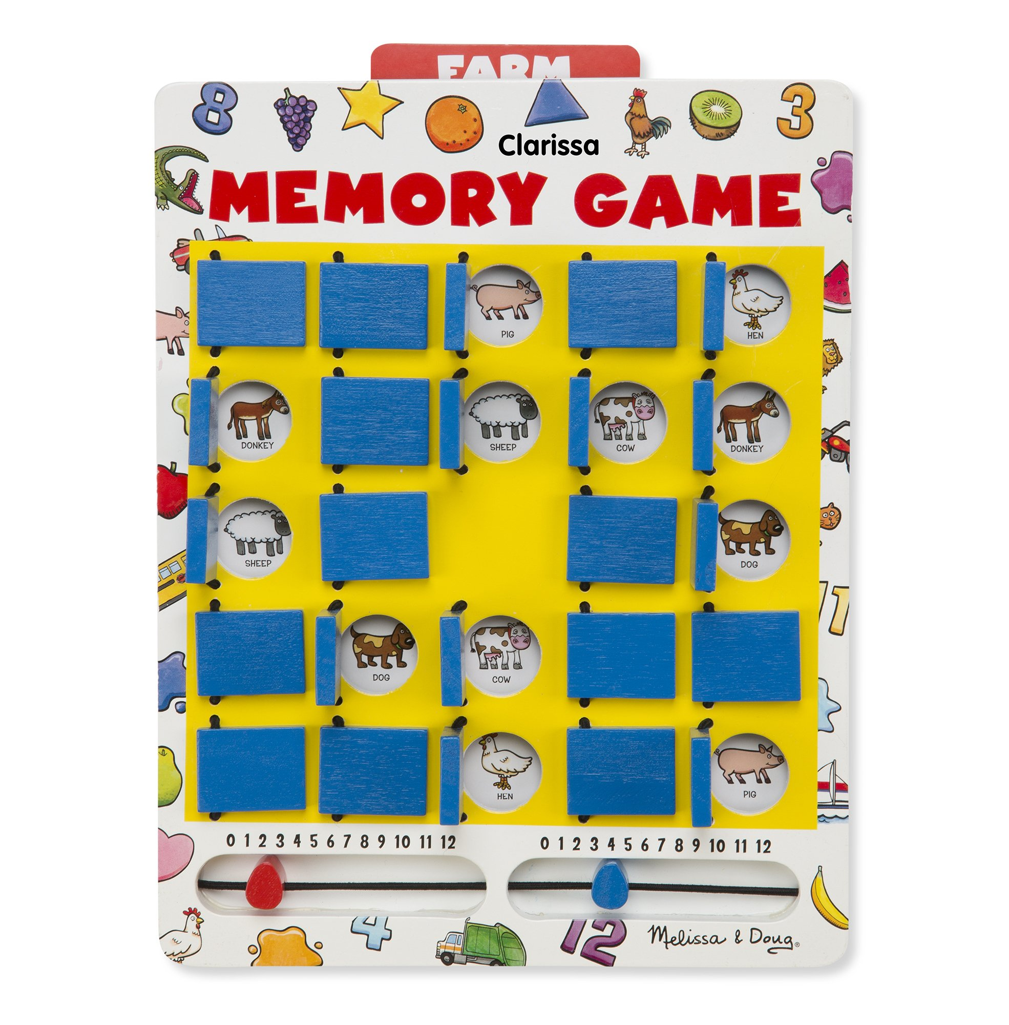 Melissa & Doug Personalized Flip to Win Memory 7 Double-Sided Cards Travel Games