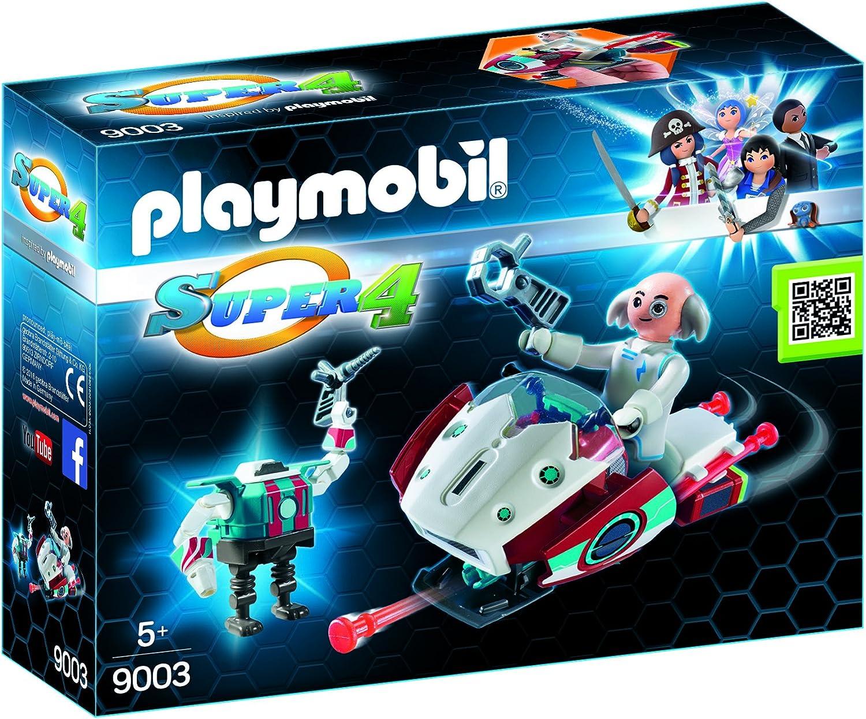 Playmobil Super 4 9003 - Dr. X y Robot, Personajes de la Serie Super 4, Multicolor