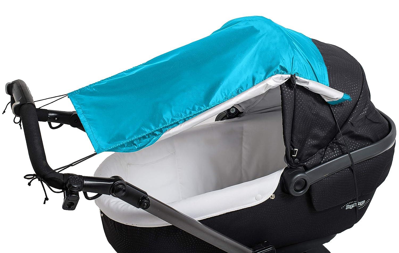hellblau 25 g Altabebe AL7012-04 Sonnensegel mit Seitenschutz f/ür Kinderwagen