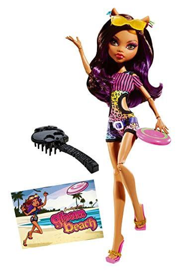 Amazoncom Monster High Gloom Beach Clawdeen Wolf Doll Toys  Games