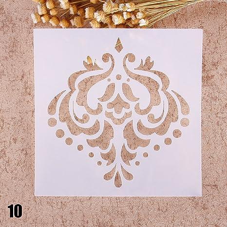 ZHUOTOP - stencil elegante per stampe, disegno, pittura, aerografo ...
