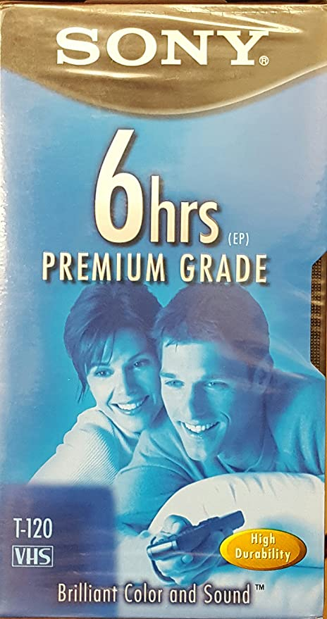 Sony T-120 6hrs by Sony Premium Grade Vhs Tape single ep