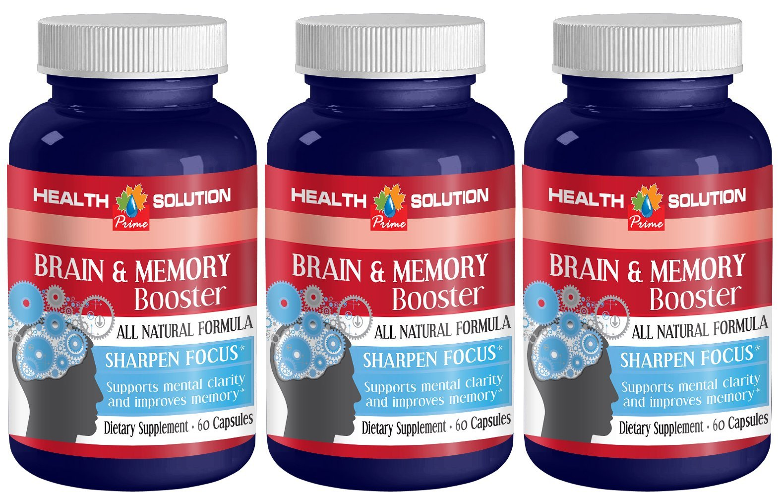 St john wort extract - BRAIN AND MEMORY BOOSTER - support cognitive performance (3 bottles) by Health Solution Prime