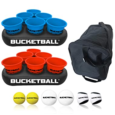 Bucket Ball - Beach Edition - Ultimate Beach, Pool, Yard, Camping, Tailgate, BBQ, Backyard, Lawn, Water, Wedding, Events, Indoor, Outdoor Game – Best Gift Toy for Boys, Girls, Teens, Adults, Family