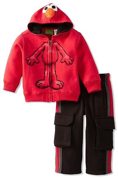 Amazon.com: Sesame Street - Chaqueta y pantalón con capucha ...