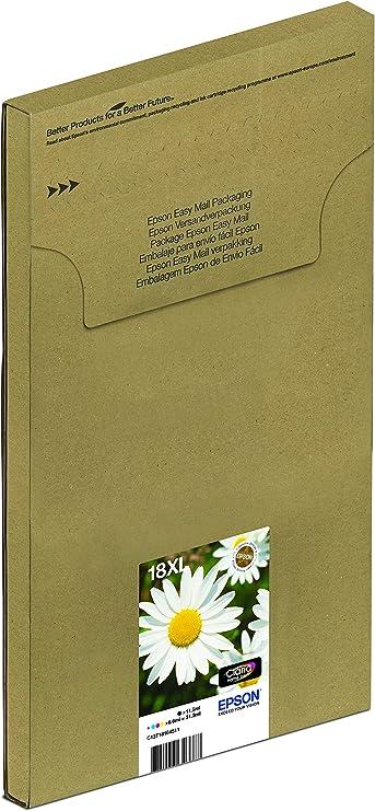 Epson Orginal 18xl Tinte Gänseblümchen Xp 305 Xp 402 Xp 215 Xp 312 Xp 315 Xp 412 Xp 415 Xp 225 Xp 322 Xp 325 Xp 422 Xp 425 Easymail Verpackung Xl Multipack 4 Farbig Bürobedarf Schreibwaren