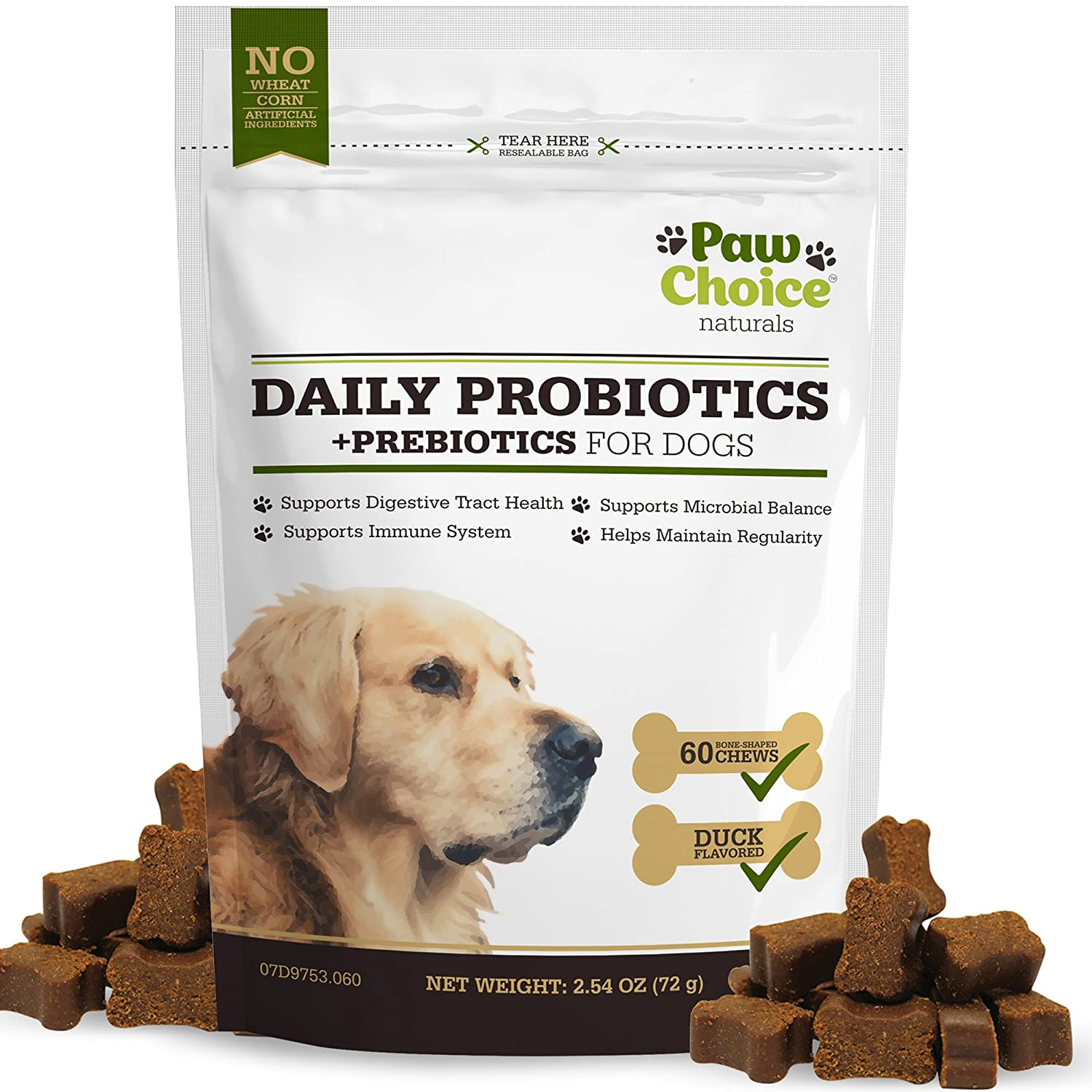 Amazon Probiotics for Dogs with Prebiotics Daily Chews for
