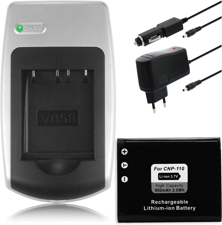 Adatattore per auto per JVC Everio GZ-VX815 Caricabatteria AC Adatattore