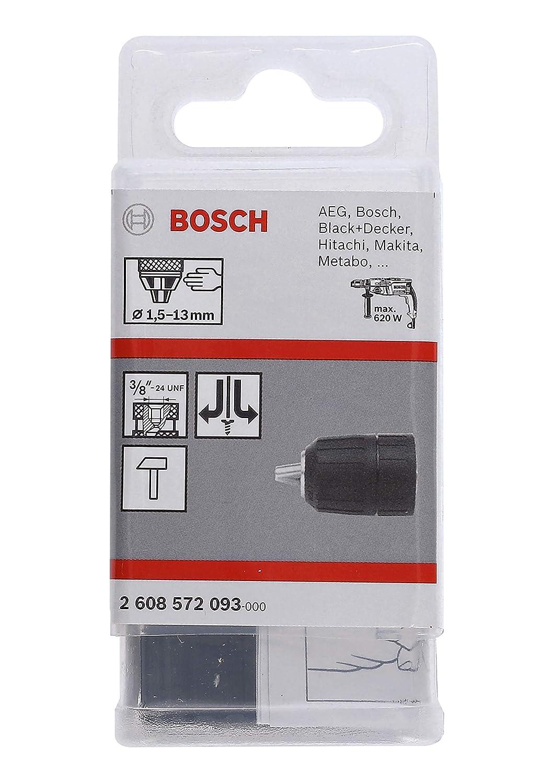 1,5 13 mm pack de 1 Bosch 2 608 572 093 3//8-24 Portabrocas de sujeci/ón r/ápida hasta 13 mm