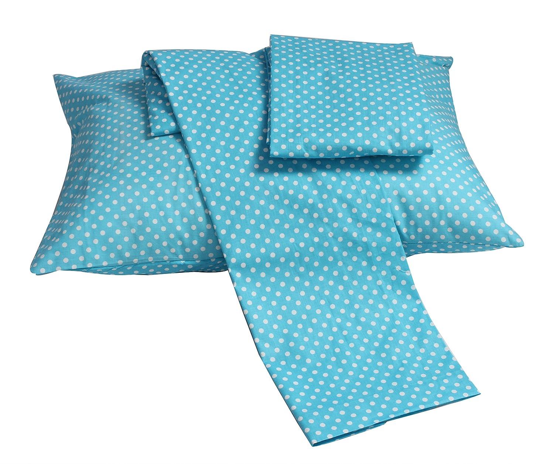Bacati Pin Dots Toddler Sheet Set Turq