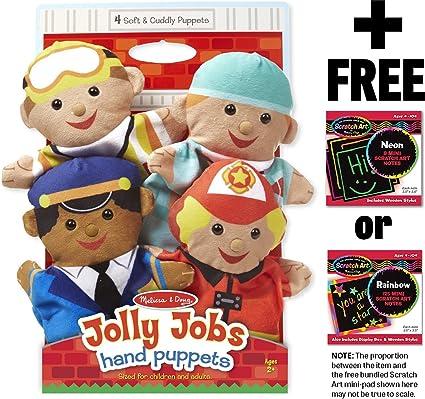 Melissa /& Doug Jolly Helpers Hand Puppets by Melissa /& Doug