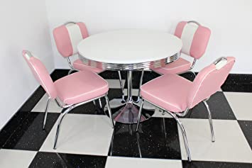 Superieur Just Americana.com American Retro 50s Diner Furniture Retro Style Table 4  Pink Studded