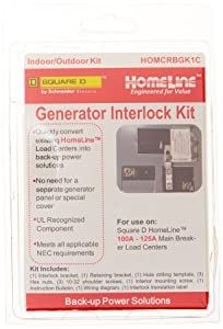 Square D by Schneider Electric HOMCRBGK1C 100 Amp Homeline Load Center Outdoor Generator Inter-Lock Kit