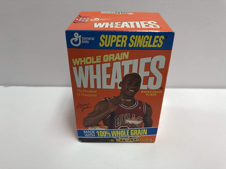 Vintage Michael Jordan Mini Wheaties Chicago Bulls Cereal Box Still
