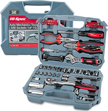 19PC Hex /& Star Interchangeable Ratchet Spanner Wrench Set C//W Inserts