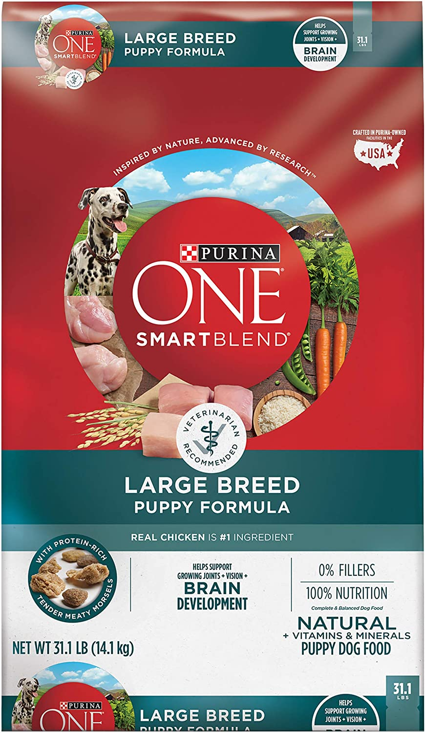 Amazon Com Purina One Natural Large Breed Dry Puppy Food Smartblend Formula 31 1 Lb Bag Pet Supplies