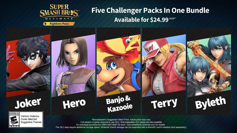 Amazon.com: Super Smash Bros. Ultimate Fighter Pass DLC - Nintendo Switch  [Digital Code]: Video Games