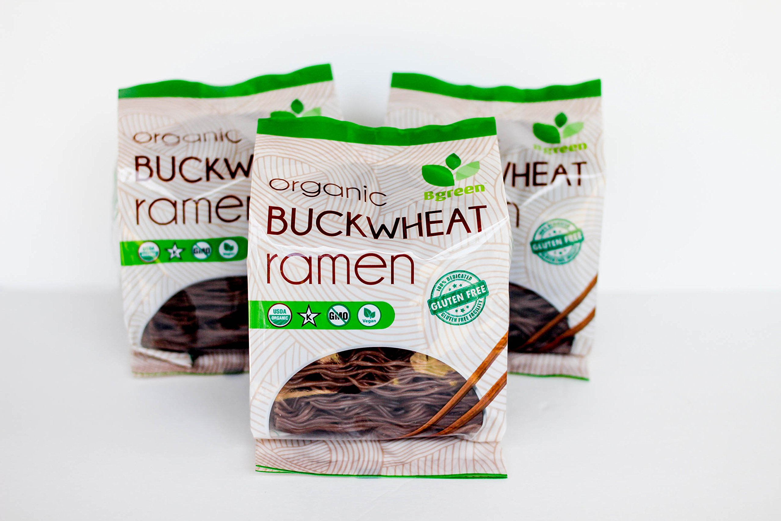 3 Pack Certified Organic Buckwheat Ramen Gluten Free Noodles Non-GMO Vegan and Kosher by Smart One Products