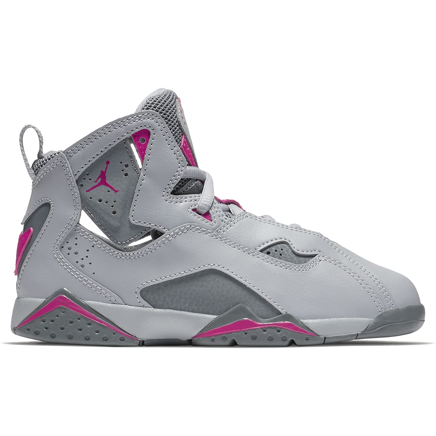 850092d2e15fb5 Amazon.com  Jordan Air True Flight Preschool Wolf Grey Deadly Pink Cool Grey  10.5 M US Little Kid  Sports   Outdoors