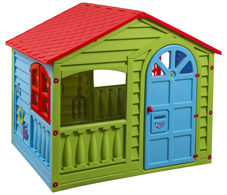 Medium Green//Red//Blue Palplay Colorful Fun House