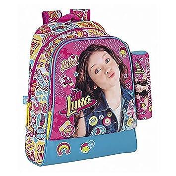 Soy Luna - Gran Mochila 42 cm Adaptable Trolley + Estuche Escolar Random Faces soy Luna Disney: Amazon.es: Equipaje