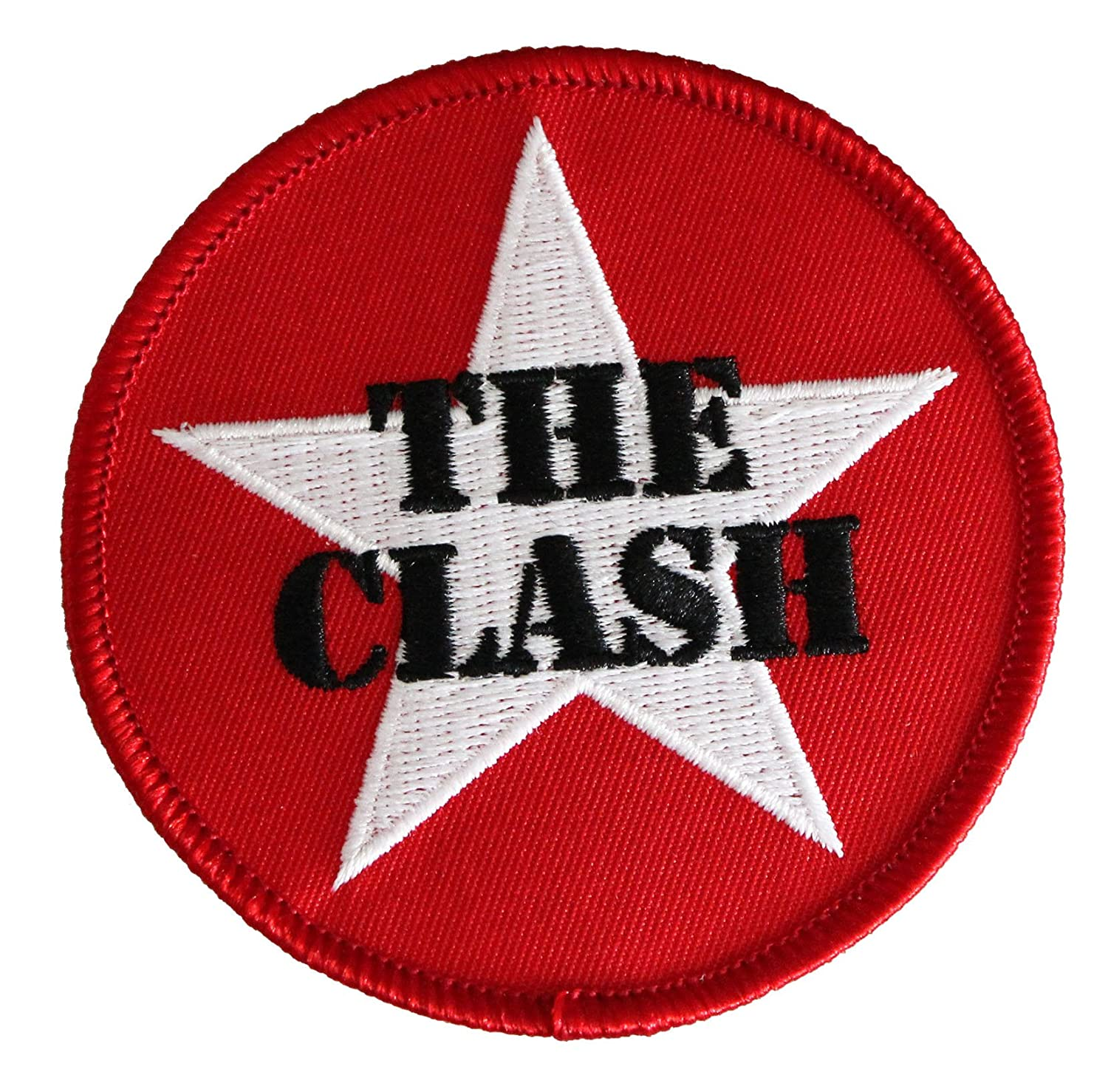 THE CLASH Star Logo, Officially Licensed Original Artwork, High Quality Iron-On / Sew-On, 3' x 3' Embroidered PATCH PARCHE 3 x 3 Embroidered PATCH PARCHE Officially Licensed & Trademarked Products P-4256