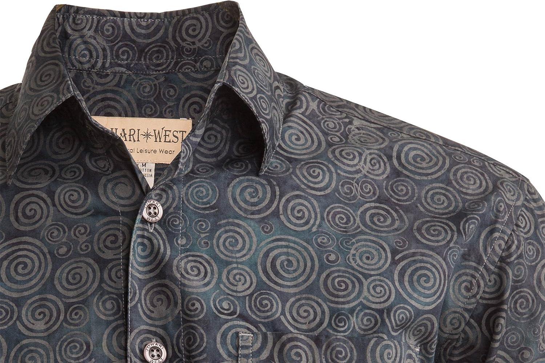 Johari West Sumatra Swirl Tropical Hawaiian Batik Shirt