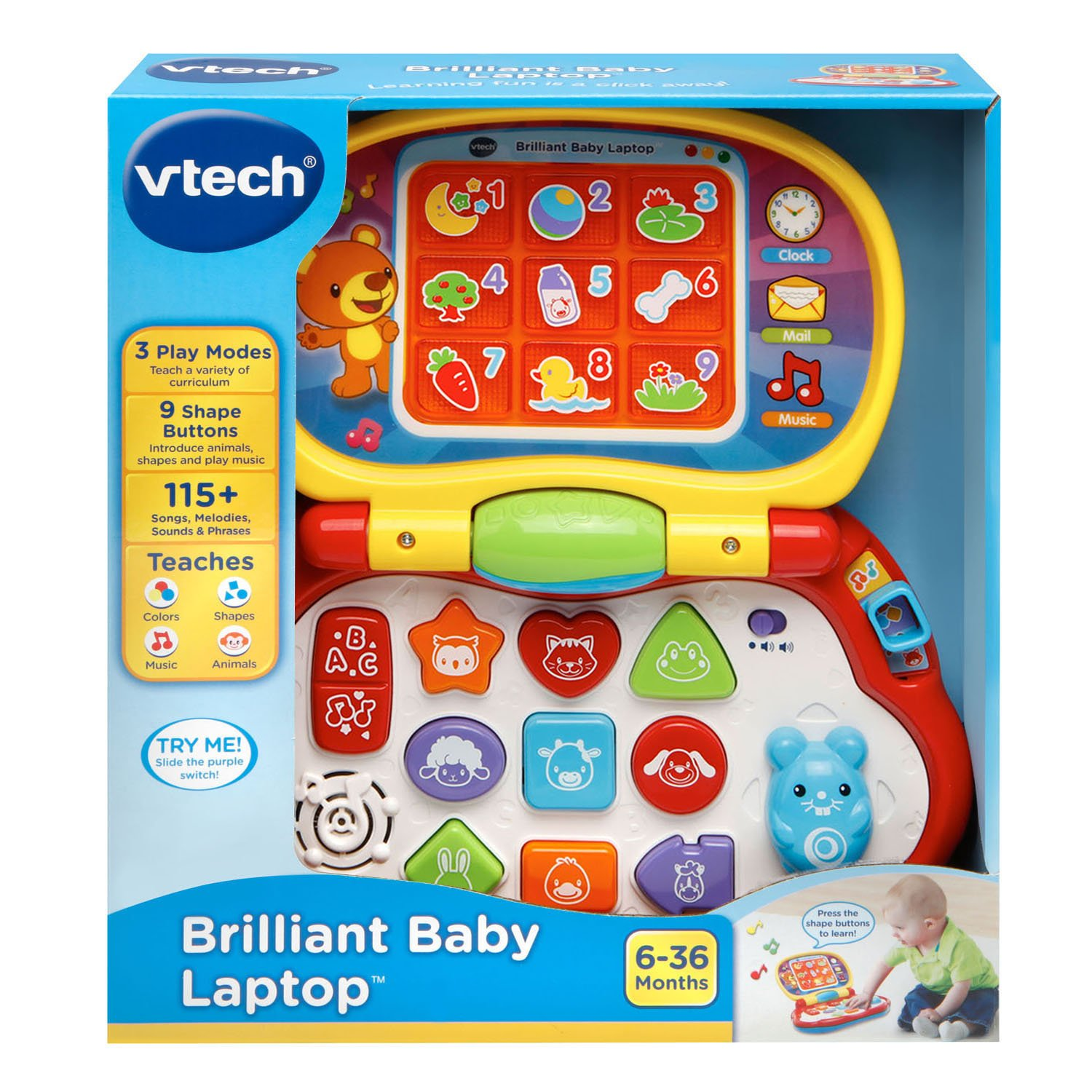 VTech Brilliant Baby Laptop Amazon Toys & Games