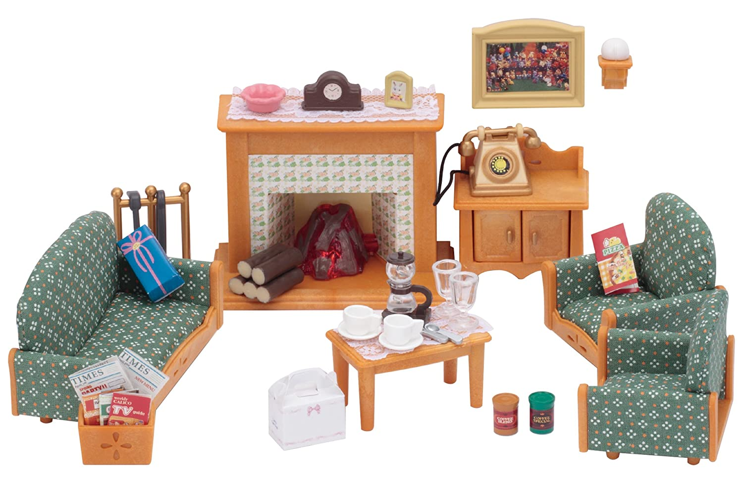 Sylvanian families 5037 deluxe living room set multicolor sylvanian families amazon co uk toys games