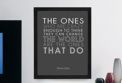 Amazon.com: Steve Jobs Inspirational Typography Quote Print \