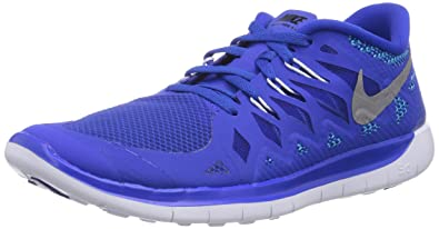 check out efa16 82b62 Nike Free 5.0, Running Entrainement Mixte Enfant - Bleu (Lyn Blue Mtllc SLVR