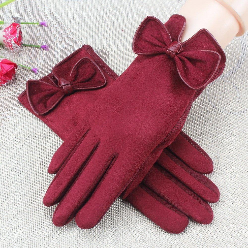 DIDIDD Guantes guantes de algodón de invierno guantes de moto estudiante a prueba de viento,Gules