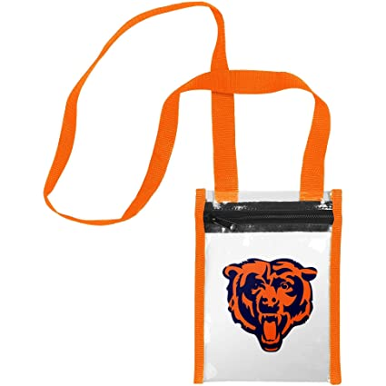 4adc2b66da2 FOCO NFL Chicago Bears Clear Crossbody Team Logo Tote Bag, Team Color, One  Size