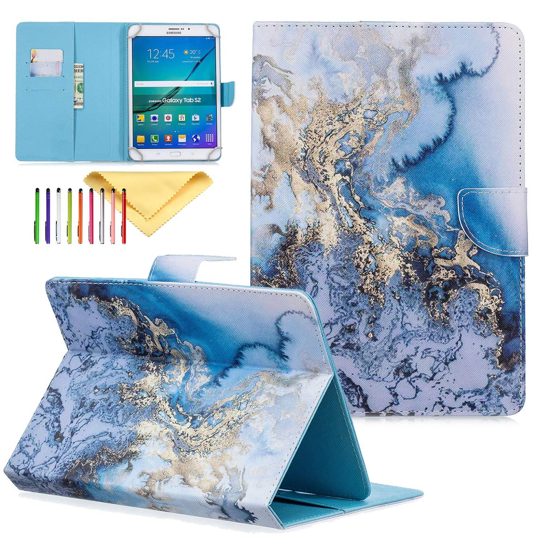 魅力の 身に着けているUiniversal 8.0インチキックスタンド財布ケースカバーiPad 3 Mini 4 3 2 1 4、ギャラクシータブ8.0