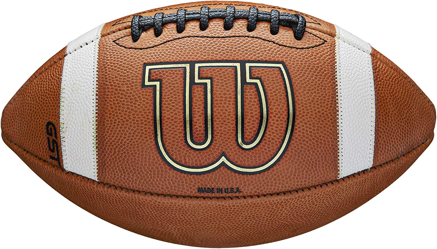 Wilson GST Official Game Football - Standard : Official Footballs : Sports & Outdoors