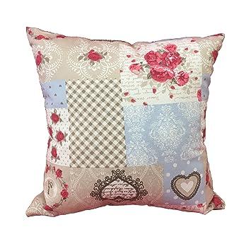 Kissen Wohnzimmer Shabby Rose 60 X Mbel Haus Sofa Bett Aus Baumwolle Halbmondform
