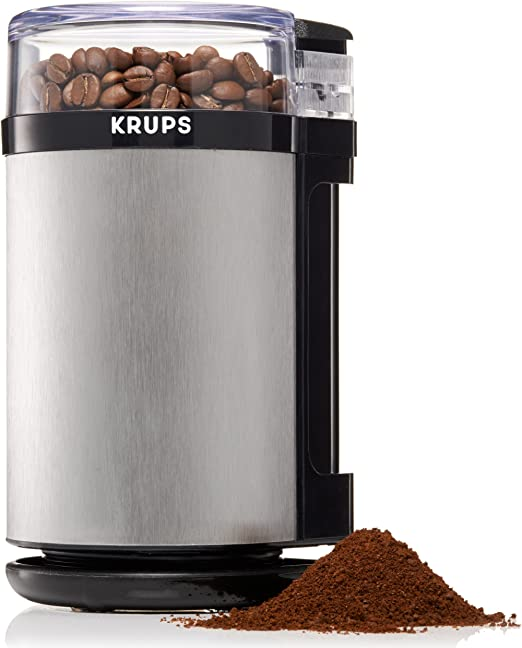 KRUPS GX4100 Electric Spice Herbs and Coffee Grinder with Stainless Steel Bla...