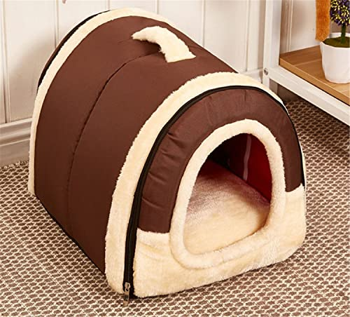SF Net Trading Winter Warm Foldable Non-Slip Outdoor Pet Kennel Cozy Dog House Cat Sofa Puppy Bed