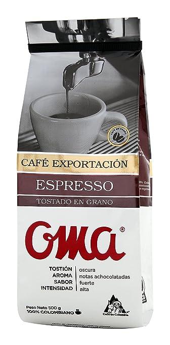 OMA Espresso - Granos de café (100% café colombiano, tostado ...