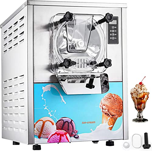 VEVOR 1400W Commercial Ice Cream Machine 5.3Gallon per Hour Hard Serve LED Display Auto Shut-Off Timer Perfect