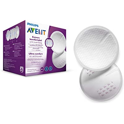 Philips Avent SCF254/61 - Discos absorbentes de lactancia desechables, pack de 60 discos absorbentes para usar de día o de noche