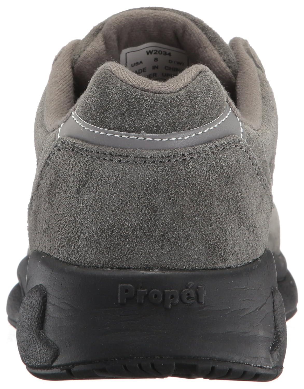 Propét Women's Stability Walker Sneaker B01N9C4IMM 8 N US Pewter Suede