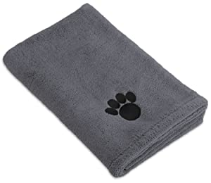 Bone Dry DII Microfiber Pet Bath Towel, Ultra-Absorbent & Machine Washable for Small, Medium, Large Dogs and Cats
